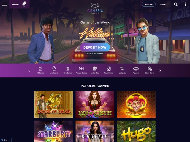 Genesis casino review