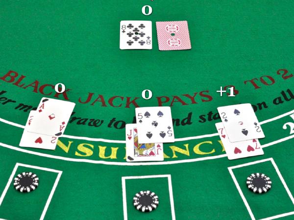 Live blackjack card counting